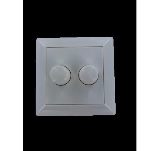 Knop en plaat tbv duo LED dimmer en plaat ral9010  Accessoires
