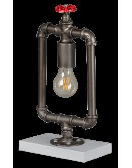 Fire Hose Tafellamp Vintage Zilver (Max.60w)