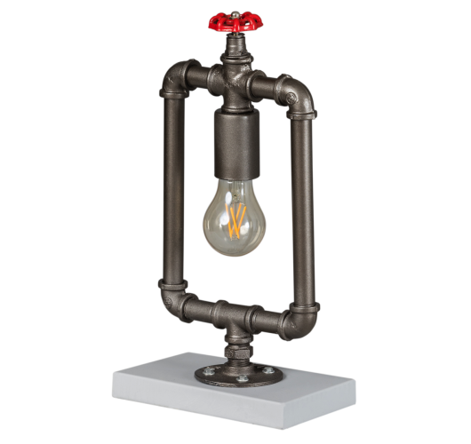 Fire Hose Tafellamp Vintage Zilver (Max.60w) Tafellampen