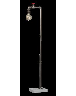 Fire Hose Vloerlamp Vintage Zilver (Max. 60w)