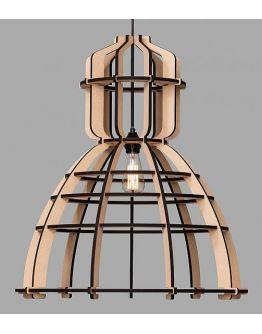 No.19 XXL Industrielamp MDF 90cm by Olaf Weller - met gratis Philips LED lamp