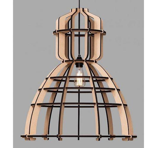 No.19 XXL Industrielamp MDF 90cm by Olaf Weller - met gratis Philips LED lamp Hanglampen