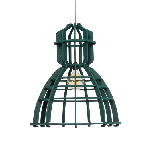 No.19XL Hanglamp PET Felt Dark Green 60cm by Olaf Weller Plafondlamp