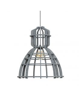 No.19XL Hanglamp PET Felt Dark Grey 60cm by Olaf Weller - Het Lichtlab - Gratis LED globe