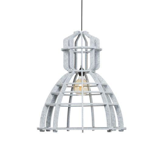 No.19XL Hanglamp PET Felt Marble 60cm by Olaf Weller - Het Lichtlab - Gratis LED globe Plafondlamp