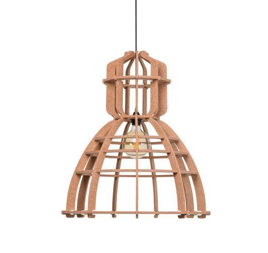 No.19XL Hanglamp PET Felt Nude (Oud Roze) 60cm by Olaf Weller - Het Lichtlab - Gratis LED globe Plafondlamp