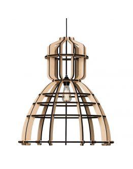 No.19XL Industrielamp MDF 60cm by Olaf Weller - Het Lichtlab - nu met gratis Philips LED globe BIMBAAR