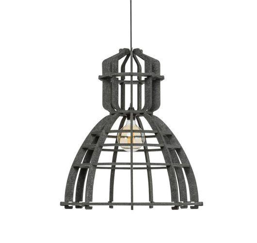 No.19XL Hanglamp PET Felt Dark Grey 60cm by Olaf Weller - - Het Lichtlab - Gratis LED globe Plafondlamp