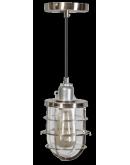 Matino Hanglamp staal / helder glas (Max 60w) Plafondlamp
