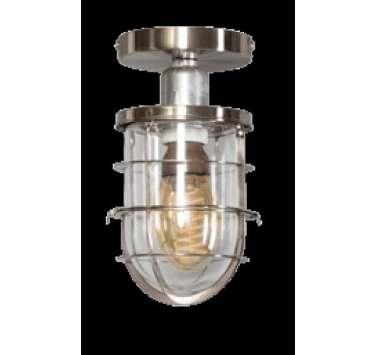 Matino Plafonnière staal / helder glas (max 60w) Plafondlamp