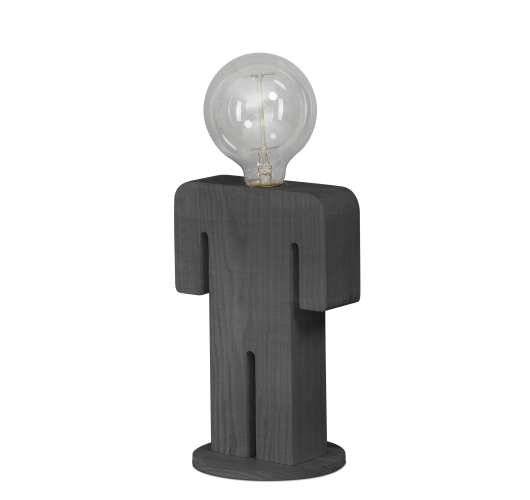 ETH Tafellamp Adam Grey | Hout Tafellampen