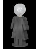 ETH Tafellamp Eva Grey | Hout Tafellampen