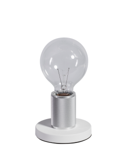 ETH Tafellamp Piston Base   Chroom/Wit