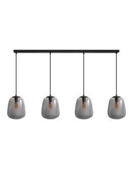 ETH Hanglamp Benn Balk | Zwart/Smoke