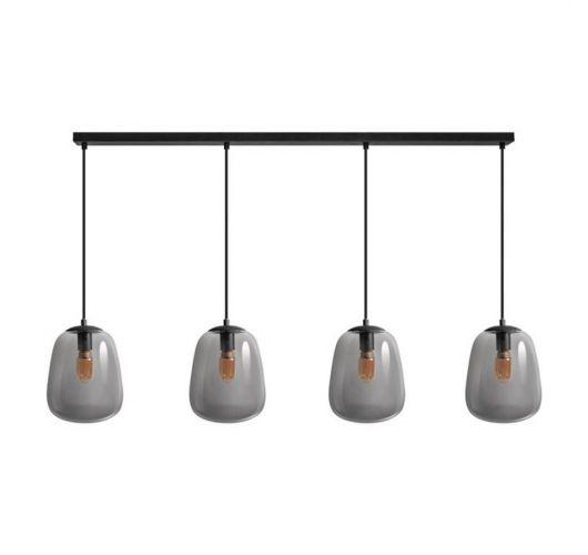 ETH Hanglamp Benn Balk | Zwart/Smoke Hanglampen