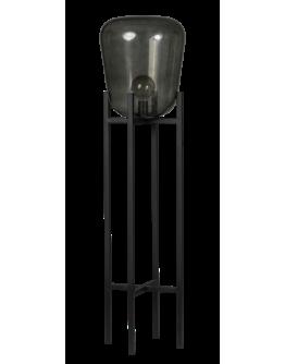 ETH Vloerlamp Benn | Zwart/Smoke