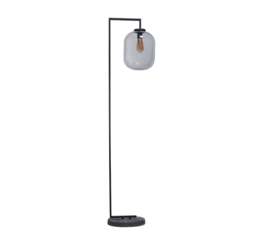 ETH Vloerlamp Benn XL | Zwart/Smoke Vloerlampen