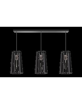 ETH Hanglamp Blackbird Balk 3 lichts 120cm Zwart