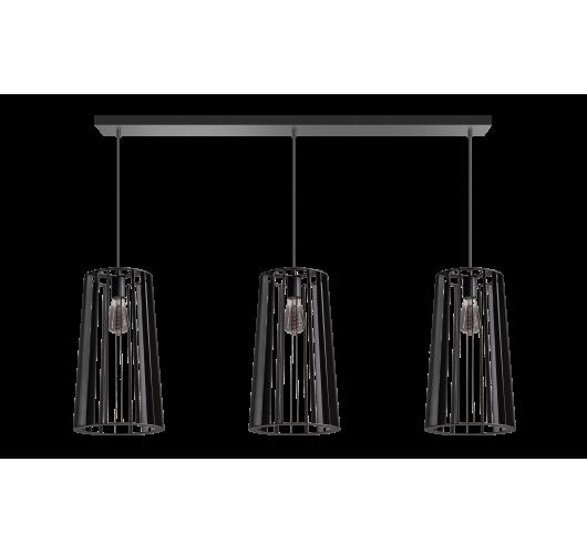 ETH Hanglamp Blackbird Balk 3 lichts 120cm Zwart Hanglampen