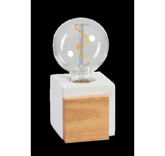 ETH Tafellamp Cube | Wit/Hout Tafellampen