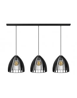 ETH Hanglamp Dean Balk 3 Lichts Zwart