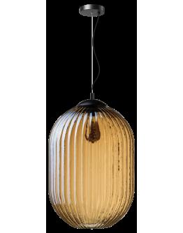 ETH Hanglamp Glamm L 40cm Ribbel Glas / Amber