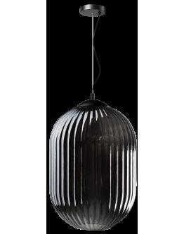 ETH Hanglamp Glamm L 40cm Smoke Glass Ribbel / Zwart