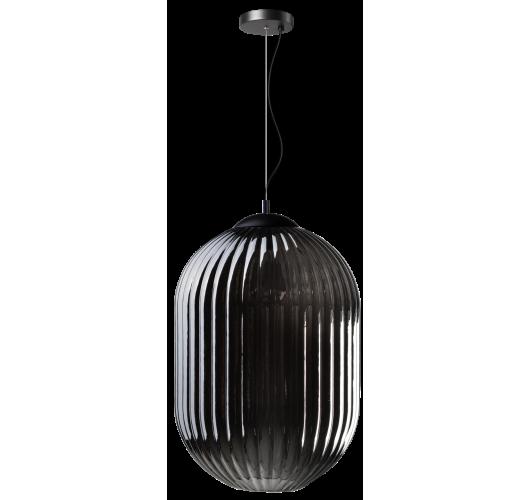ETH Hanglamp Glamm L 40cm Smoke Glass Ribbel / Zwart Hanglampen