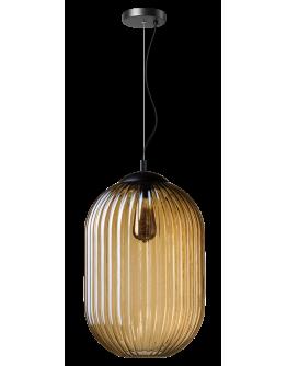 ETH Hanglamp Glamm M 30cm Ribbel Glas / Amber