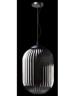 ETH Hanglamp Glamm M 30cm Smoke Glass Ribbel / Zwart