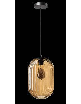 ETH Hanglamp Glamm S 20cm Ribbel Glas / Amber