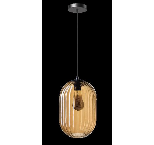 ETH Hanglamp Glamm S 20cm Ribbel Glas / Amber Hanglampen