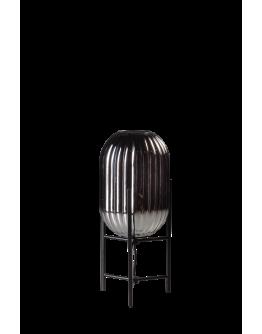 ETH Tafellamp Glamm S 20cm Smoke Glass Ribbel / Zwart