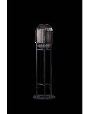 ETH Vloerlamp Glamm S 30cm/136cm Smoke Glass Ribbel / Zwart Vloerlampen