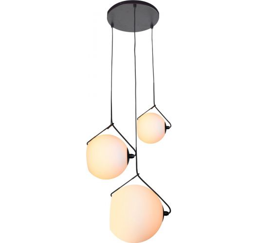 ETH Hanglamp Orb 3x 20-25-30cm Opaal Glas Hanglampen