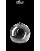 ETH Hanglamp Orb 30cm Smoke Glas / Zwart Plafondlamp