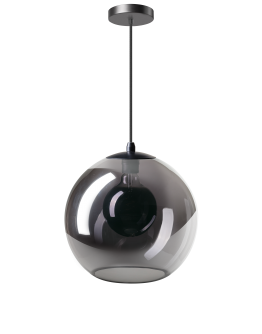 ETH Hanglamp Orb 30cm Smoke Glas / Zwart