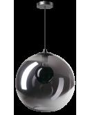 ETH Hanglamp Orb 40cm Smoke Glas / Zwart Hanglampen