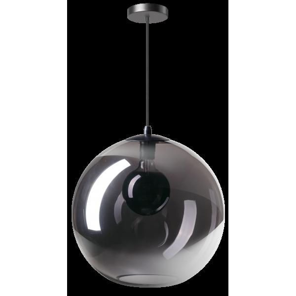 ETH Hanglamp Orb 40cm Smoke Glas / Zwart