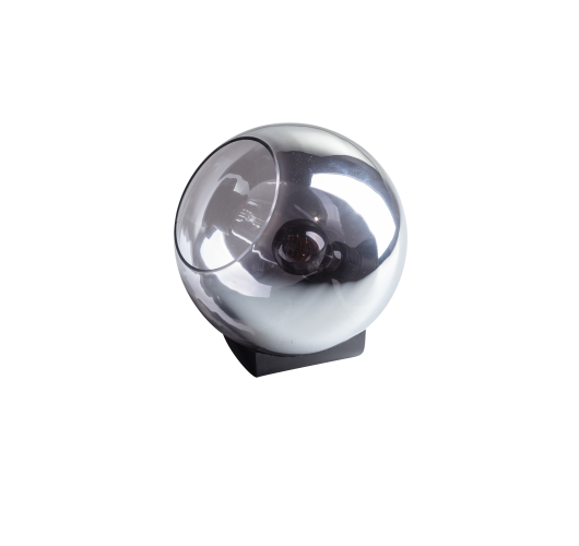 ETH Tafellamp Orb 25cm Smoke Glas / Zwart Tafellampen