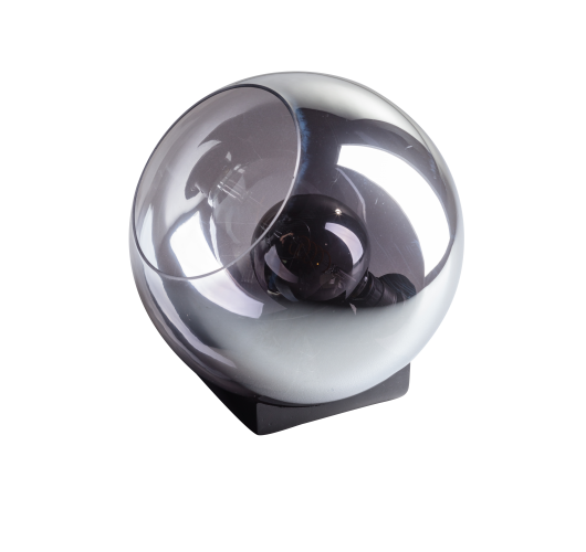 ETH Tafellamp Orb 35cm Smoke Glas / Zwart Tafellampen