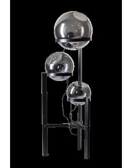 ETH Vloerlamp Orb Ø 30-35-40cm / H 140cm Smoke Glas / Zwart
