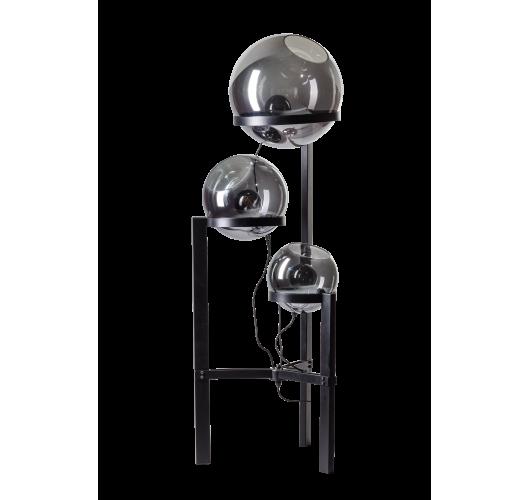 ETH Vloerlamp Orb Ø 30-35-40cm / H 140cm Smoke Glas / Zwart Vloerlampen