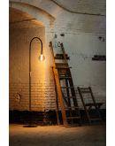 ETH Vloerlamp Pike | Zwart/Messing Vloerlampen