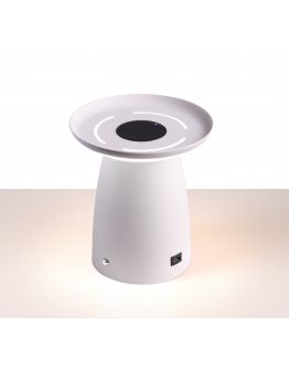 ETH Tafellamp Soof USB + Draadloos opladen | Wit