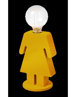 ETH Tafellamp Eva Velvet | Mosterdgeel