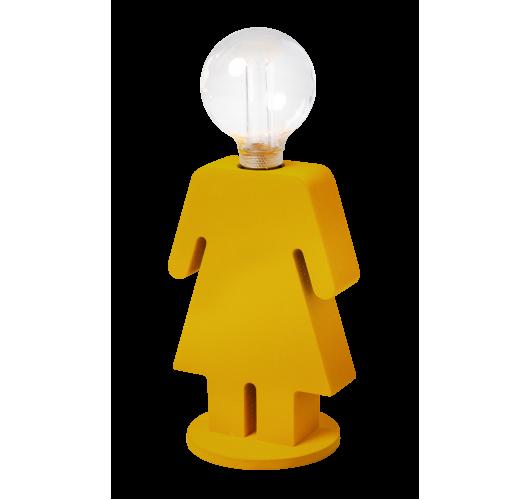 ETH Tafellamp Eva Velvet   Mosterdgeel  Tafellampen