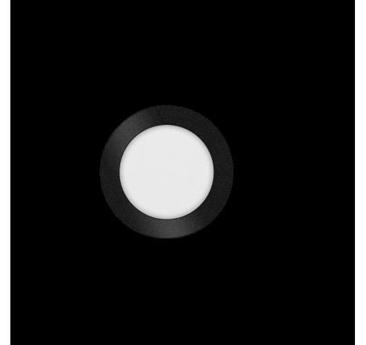 ETH Anne LED plafonnière 4 settings 17x2.7cm IP44 Zwart | Rond Plafonnières