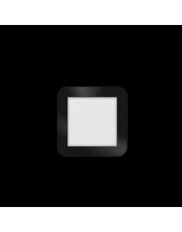 ETH Anne LED plafonnière 4 settings 17x17x2.7cm IP44 Zwart | Vierkant