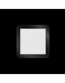 ETH Anne LED plafonnière 4 settings 22.5x22.5x2.7cm IP44 Zwart | Vierkant